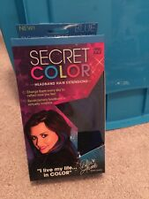 """Secret-Color-Headband-Hair-Extensions-Blue-14""""-Long-As-Seen-on-TV-Style-Your-Way"""