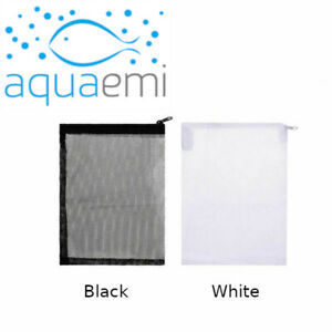 Aquarium Filter Media Zip Bag Zipped Mesh Fish Tank Sump Pond Black & White