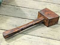 VINTAGE OLD RARE MARPLES & SONS UNIQUE WOOD HAMMER TOOL. COLLECTIBLE