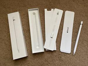 Apple Pencil (1st Gen.) White Excellent Condition w/ OEM Adaptor, Box, Tip & Cap