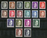 DR Nazi 3rd Reich Rare WW2 Stamp Adolf Hitler Head UKRAINE Over Print Occupation