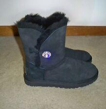 UGG Black Bailey Bling Swarovski Crystal Suede Boots Sz 8, EUC-BEAUTIFUL!!