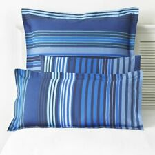 Great Knot Oxford Stripe Easycare Pillowcases, Large Square 80 x 80cm, Blue