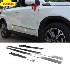 4x For Suzuki Vitara 2016-2019 Stainless Steel Body Side Door Molding Cover Trim