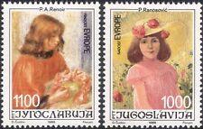 Yugoslavia 1988 Europe/Renoir/Ranosovic/Art/Painting/Artists/People 2v (n45952)