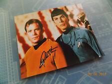 "William Shatner & Leonard Nimoy Autographed Photo 8-1/4"" x 10-1/4"" copy"