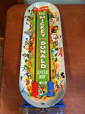 "Vintage Ideal ""Mickey and Donald Speedway"" Disney Mechanical Tin Racing Game"