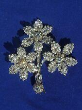 Maria Elena Clear Swarowski Crystal Flower Brooch