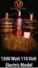 10 Gallon 1500 Watt ELECTRIC Copper Moonshine Still Complete Kit w/ Worm & Thump