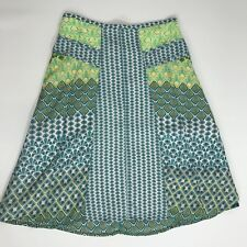 4d029bd72 prAna Size 0 Green Yellow Dragonfly A-Line Isadora Skirt Womens 158