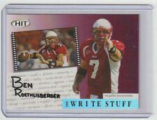BEN ROETHLISBERGER Steelers 2004 Sage Hit THE WRITE STUFF #2 SP RC Rookie Card