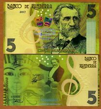 Kamberra, 5 Numisms, 2017, UNC > Giuseppe Verdi > Completely Redesigned in 2013