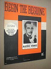 BEGIN THE BEGUINE. COLE PORTER. 1940 SHEET MUSIC SCORE