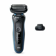 Braun Electric Razor Series 5 5018s Electric Shaver with EasyClean, Black/Blue