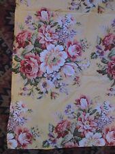 Ralph Lauren Sophie Brook yellow pink floral print 100% cotton square tablecloth