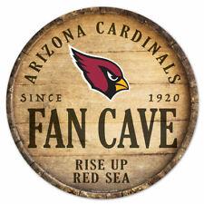 NFL Arizona Cardinals Fan Cave Rund Wood Sign Holzschild Holz Deko Football
