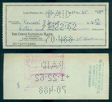 (117) Signed Personal Check Mickey Cochrane Athletics Tigers Autographed 1/18/62