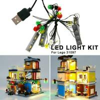 For LEGO 31097 LED Light Up Kit CREATOR Townhouse Pet Lighting Café & Shop M9D9