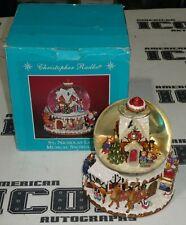 "Christopher Radko St. Nicholas Lane Musical Snowglobe Santa Christmas 9"" 8 lbs"