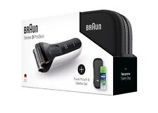 Braun Series 3 Pro Skin 3040 s Rasierer Akku Geschenkset Gillette Gel Wet & Dry