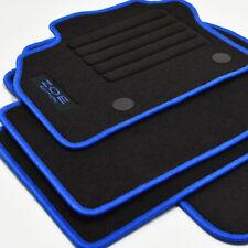Mattenprofis Velours Logo Fußmatten für Renault Zoe I ab Bj.2012 - 2019 blau