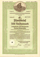 1941 Gdańsk Poland Danzig German bond certificate share
