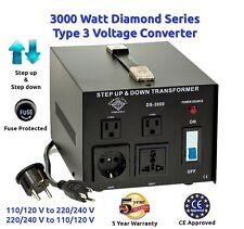 Diamond Series 3000 Watt Step Up Down Voltage Converter Transformer