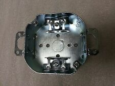 """(1 pc) 4"""" Octagon Round Electrical Box 1/2"""" KO's Ears Clamp ~Raco 150"""