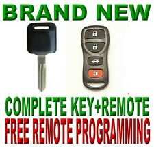 VIRGIN IMMOBILIZER UNCUT KEY D2+4BTS KEYLESS ENTRY TRANSMITTER CLICKER FOR NISAN