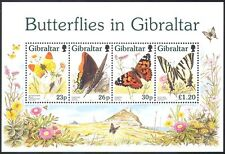 Gibraltar 1997 Butterflies/Flowers/Insects/Nature/Butterfly 4v m/s ref:s2244