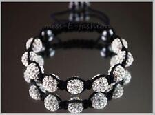 2 FOR $15!! 9 Crystal Balls SHAMBALLA SHAMBHALA  BRACELETS White, Silver, Gold