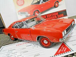 "Danbury Mint 1:24 Limited Edition 1969 Dodge Charger 500 ""Hemi Orange"" W/ Papers"