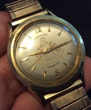 Vtg Hamilton Automatic Cal. 661 17J 10K Gold Filled Men Wrist Watch Mason Dial