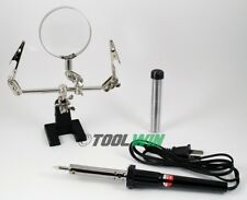 60W Soldering Iron Tool Kit w/ Helping Hands Holder Stand Solder