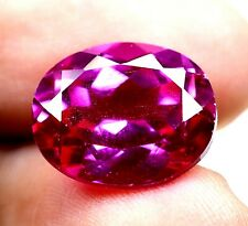 AAA Ceylon's 9.45 Ct Natural Pink Sapphire Oval Loose Gemstone Certified B5742