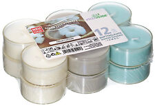 12 Maxi Duftteelichter Fresh Cotton  transparente Hülle Duft Kerzen Acryl Cup