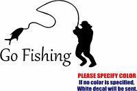 "Go Fishing JDM Funny Vinyl Decal Sticker Car Window Bumper Laptop Tablet 7"""