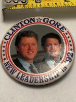 1992 BILL CLINTON AL GORE POLITICAL PRESIDENT CAMPAIGN PIN PINBACK BUTTON BADGE