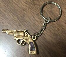 Older Plastic Keychain Gumball Machine - 357 Magnum Gun Smith & Wesson Model 19