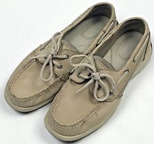 Sperry Top-Sider Intrepid Boat Shoes Womens Size 7.5 Beige Leather 9774829