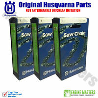 "Set of 3 OEM Husqvarna Chainsaw 16"" Chain H30 66DL .325 050 Fits 435"