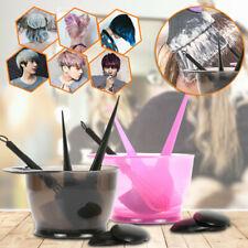 Hair Tint Brush Dye Kit Comb Brushes Salon Mixing Color Bowl Tool 5Pcs/Set NEW