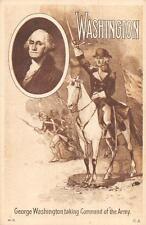 GEORGE WASHINGTON ENTERING PHILADELPHIA YORKTOWN PATRIOTIC POSTCARD (c. 1910)