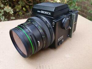Zenza Bronica ETRS Waist Level Zenzanon 75mm f 2.8 EII 120 Film Back Camera
