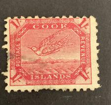 1898 Cook Island 1/ White Tern Torea Carmine Stamp FU