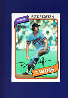 Pete Redfern 1980 TOPPS Baseball #403 (NM+) Minnesota Twins