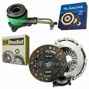 LUK 3 PART CLUTCH KIT AND SACHS CSC FOR FORD MONDEO HATCHBACK 1.6I 16V
