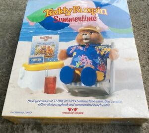 1987 WOW Teddy Ruxpin set-SUMMERTIME-MINT/SEALED in box-UNUSED-Worlds of Wonder