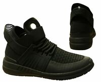 Supra Skytop V Black Slip On High Top Lace Up Casual Mens Trainers 08032 010 B0E