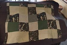 Camo Patchwork 50x60 Quilted Woods Throw New